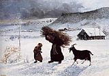 Village Canvas Paintings - Poor Woman of the Village